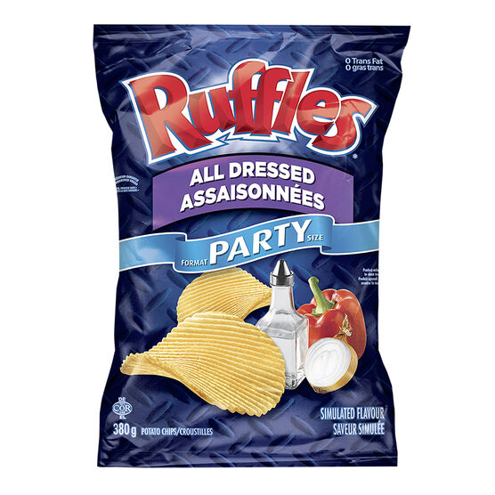 Ruffles Potato Chips - All Dressed - 380g