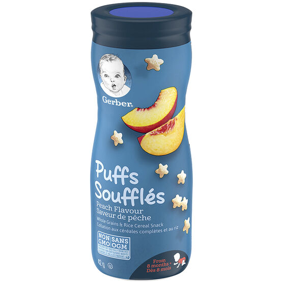 Gerber Toddler Snacks Puffs - Peach - 42g