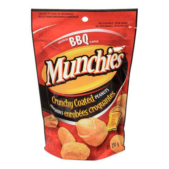 Munchies Crunchy Coated Peanuts - BBQ - 210g