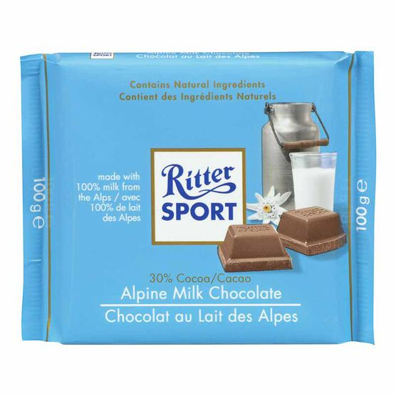Ritter Sport - Alpine Milk Chocolate - 100g