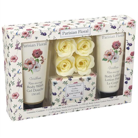 Parisian Floral Soap Set - Wild Rose - 7 piece