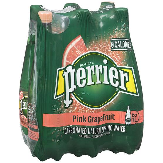 Perrier Sparkling Water Case - Grapefruit - 6 x 1L
