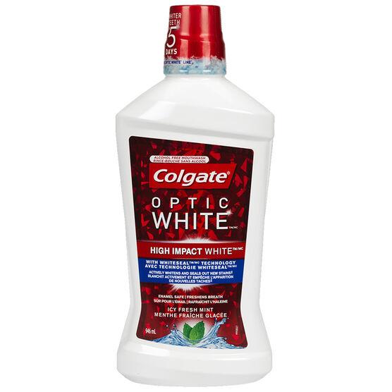 Colgate Optic White Mouthwash - Sparkling Fresh Mint - 946ml