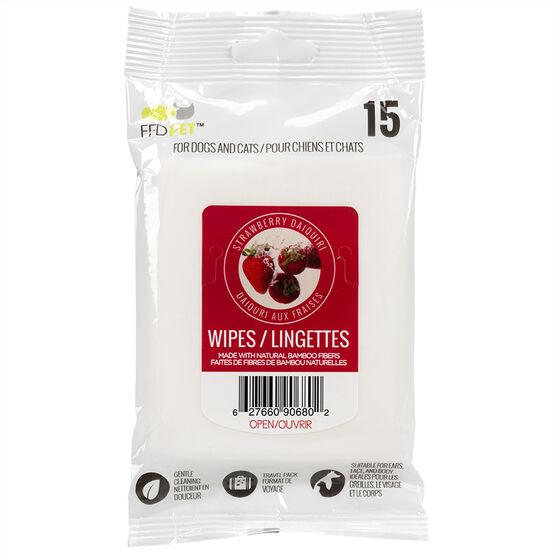 FouFou Pet Wipes - Strawberry - 15's