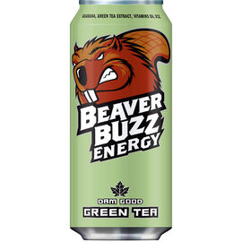 Beaver Buzz Energy Drink - Green Tea - 473ml