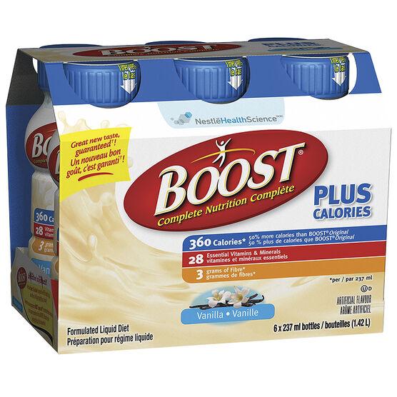 Boost Plus Calories - Vanilla Drink - 6 x 237ml