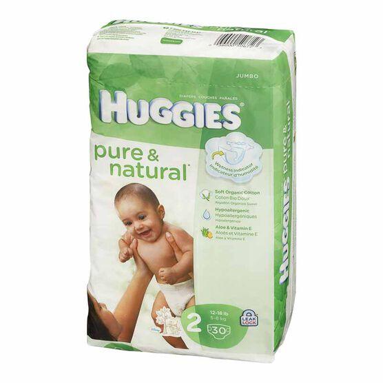 Huggies Pure & Natural Diapers - Step 2 - 30's