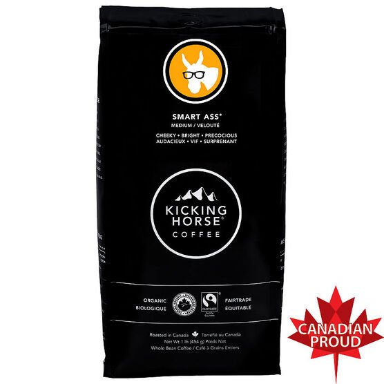 Kicking Horse Coffee Smart Ass - Medium Roast - Whole Bean - 454g