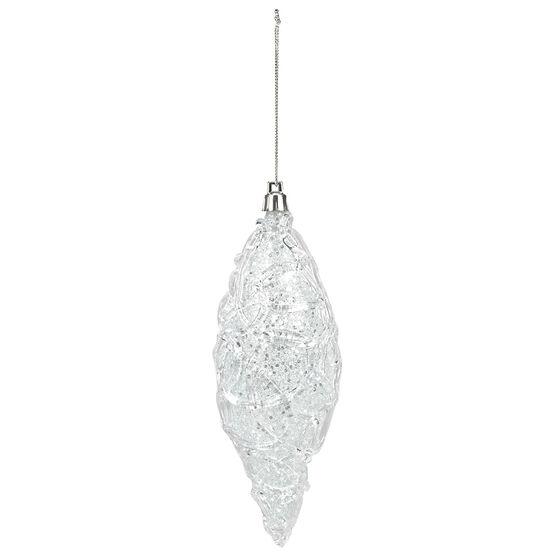 Polar Ice Tear Drop Ornament - Clear Blue - 16cm