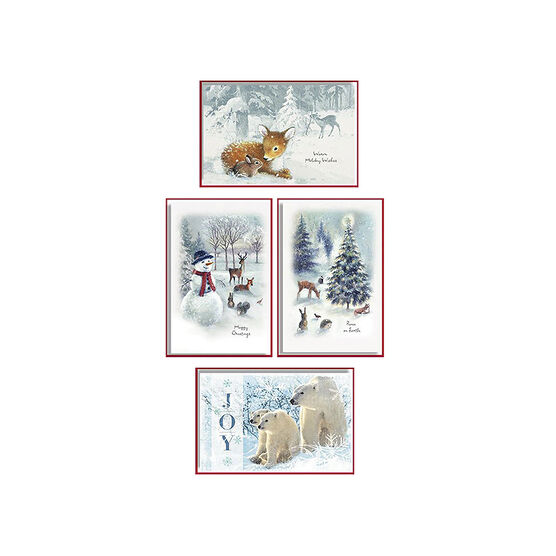 American Greetings Deluxe Christmas Cards - Wildlife - 14 count - Assorted