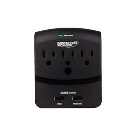Monster 3 Outlet Power Tap - Black - MPEXP350US