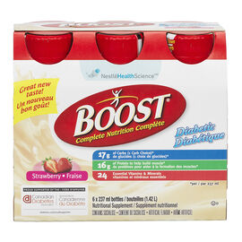 Boost Diabetic Drink - Strawberry  - 6 x 237ml