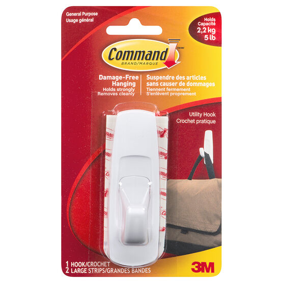 Command™ Large Utility Hooks - Single