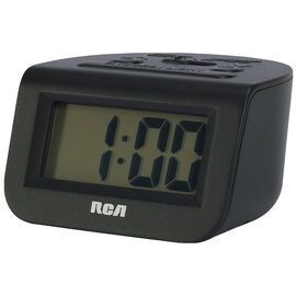 RCA Travel Alarm Clock - Black - RCD10
