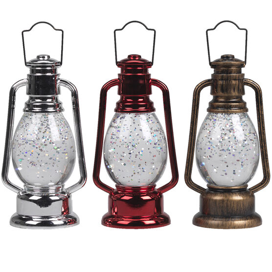 Danson LED Water Globe Lantern - 12cm - XLD2016-5FOB - Assorted