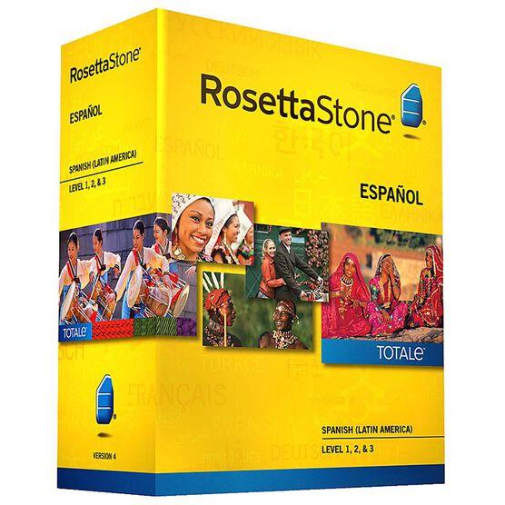 Rosetta Stone V4 Spanish Level 1, 2, & 3