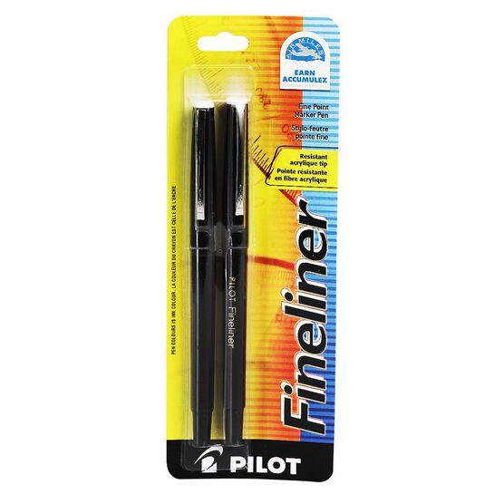 Pilot Fineliner - Black - 2 pack