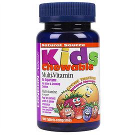 London Naturals Kids Chewable Multi-Vitamin - 100's