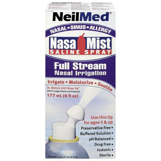 NeilMed NasaMist Saline Spray - Full Stream - 177ml