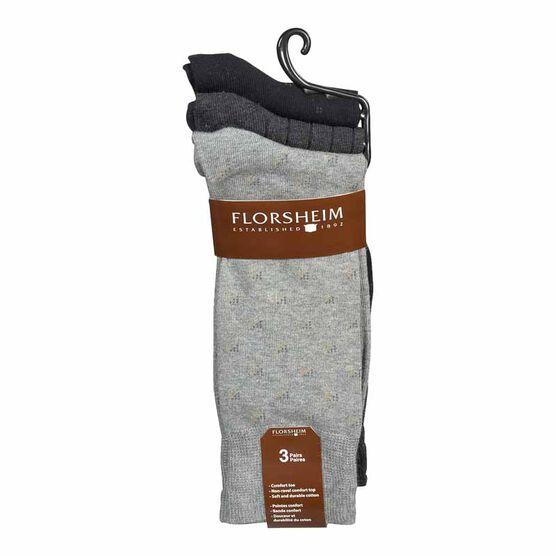 Florsheim Men's Crew Socks - Assorted - 3 Pairs