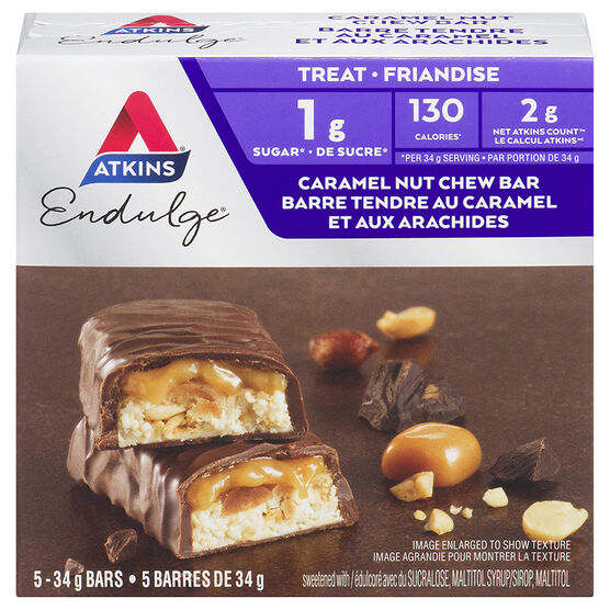 Atkins Endulge Bars - Caramel Nut Chew - 5 x 34g