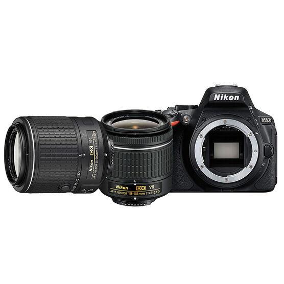 Nikon D5600 with AF-P DX 18-55 and 55-200mm Lens - PKG #36362
