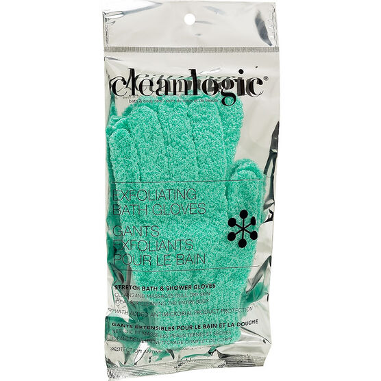 Cleanlogic Bath & Body Care Exfoliating Bath Gloves - Assorted - 2 pack