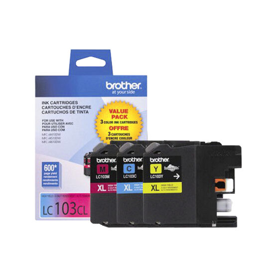 Brother LC103 3 Pack Colour Printer Ink Cartridges - LC1033PKS