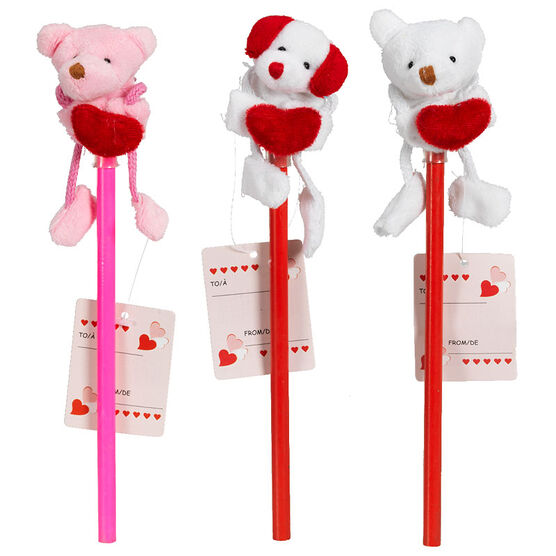 Valentine Character Pencil - Assorted