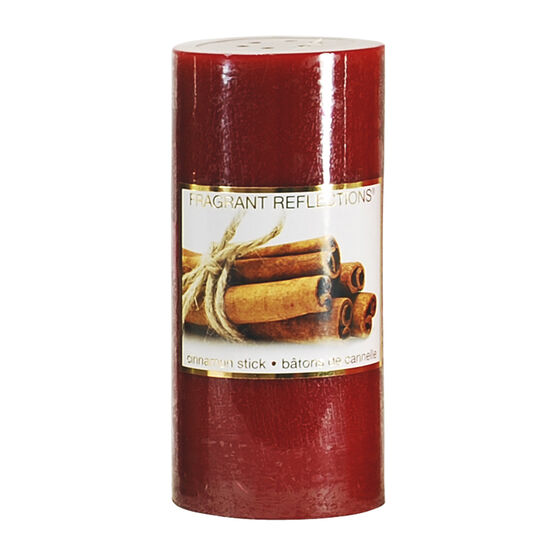 Fragrant Reflections Pillar Candle - Cinnamon Sticks - 6inch