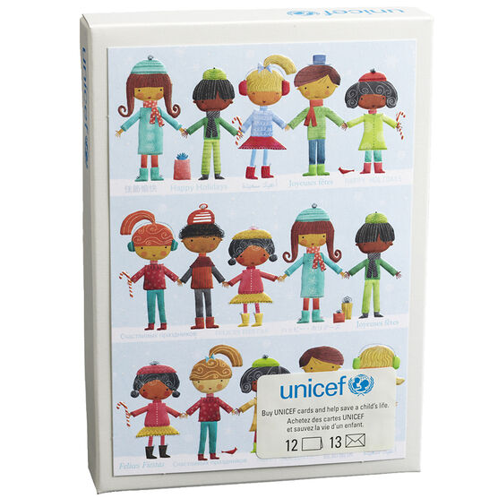 Unicef Christmas Cards - Kids in Rows - 12 pack