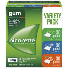 Nicorette Gum Variety Pack with Fresh Fruit - 2mg - 90's