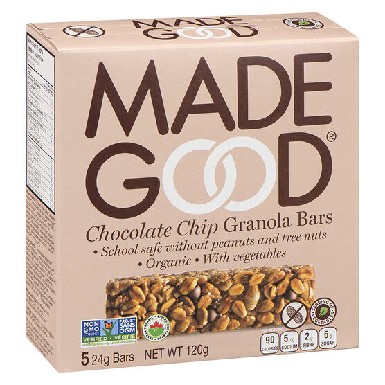 Made Good Granola Bars - Chocolate Chip - 5 pack