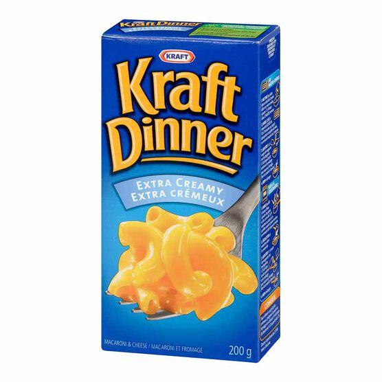 Kraft Dinner Extra Creamy Macaroni & Cheese - 200g