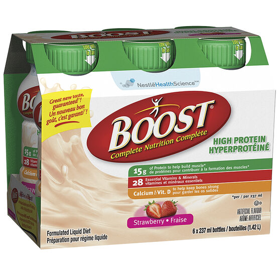 Boost High Protein Drink - Strawberry - 6 x 237ml