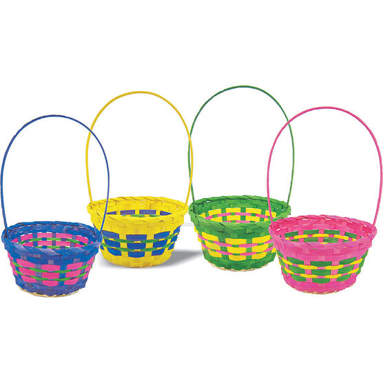 Easter round basket 8in assorted london drugs easter round basket 8in assorted negle Image collections
