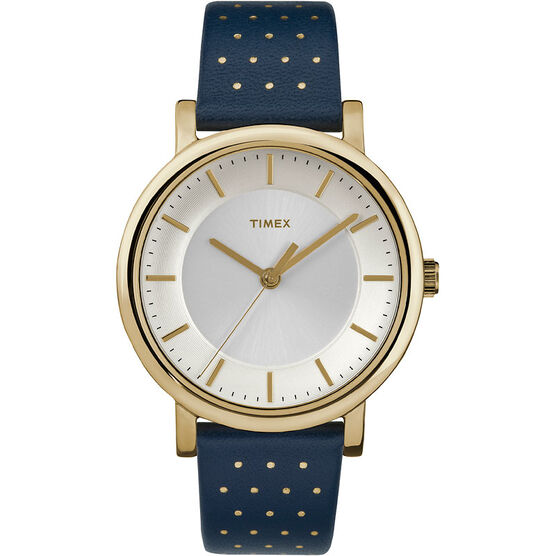 Timex Main St. Collection Watch - Blue/Gold - TW2R27600ZA
