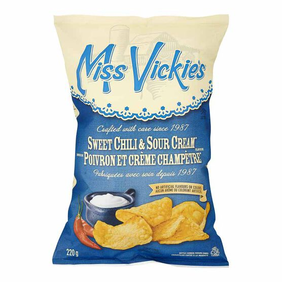 Miss Vickies Potato Chips - Sweet Chili and Sour Cream - 220g
