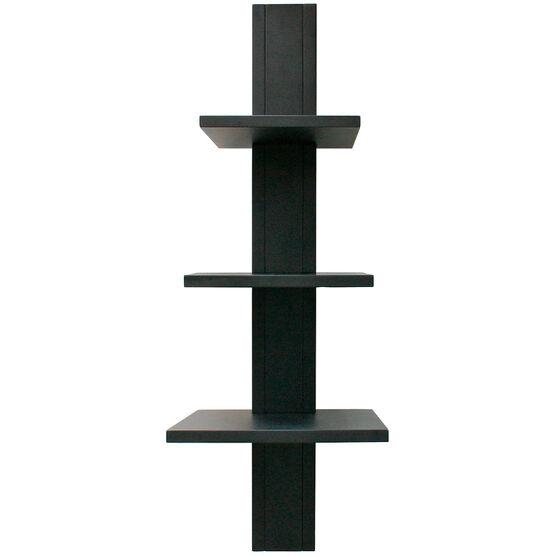 Alton Wall Shelf - Black - 3 Tier