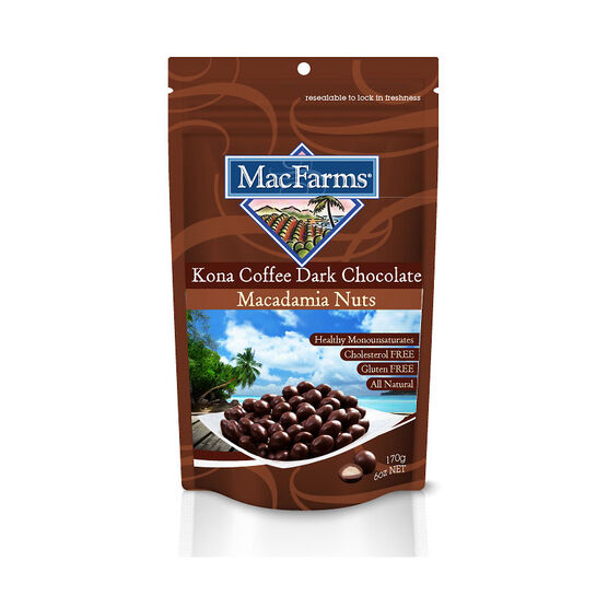 MacFarms Macadamia Nuts - Kona Coffee Dark Chocolate - 170g