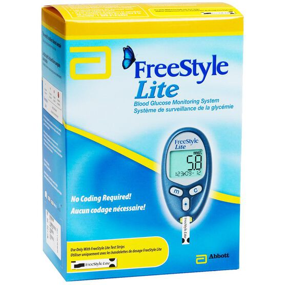 FreeStyle Lite Glucose Blood Glucose Monitoring System - 70417