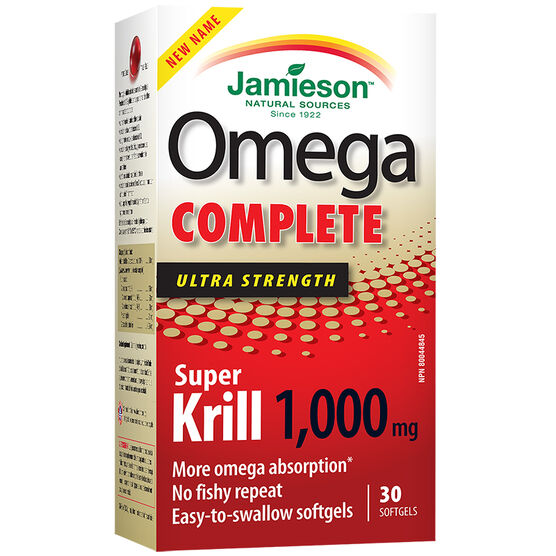 Jamieson Omega Complete Super Krill - 1000mg - 30's