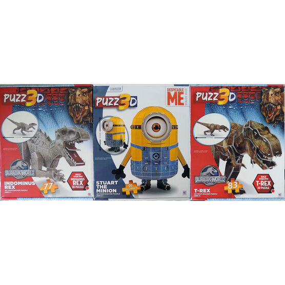 Licensed 3D Puzzles - Assorted