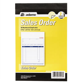 Adams Sales Order Book - 2 Part - 50's