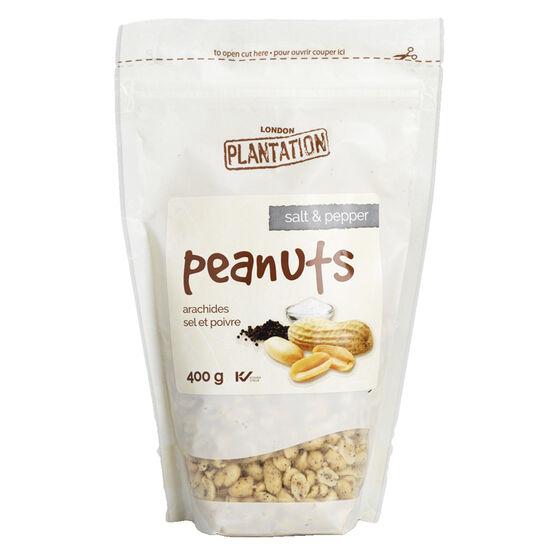 London Plantation Peanuts - Salt and Pepper - 400g