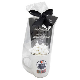 NHL Mug with Hot Chocolate and Marshmallows - Oilers