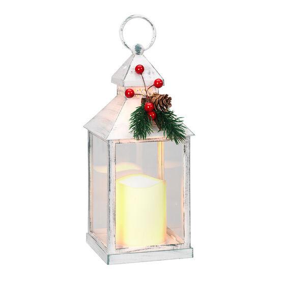Night Splendor Antique Lantern - White