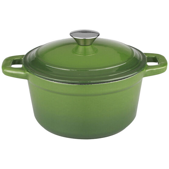 Neo Cast Iron Round Covered Casserole - Green - 5qt