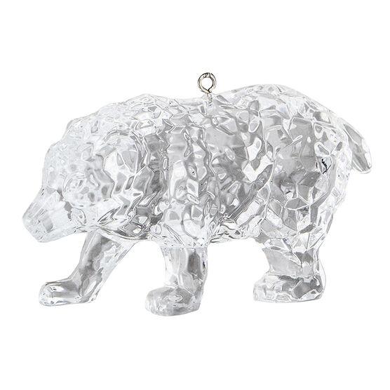 Polar Ice Bear Ornament - Clear - 9cm