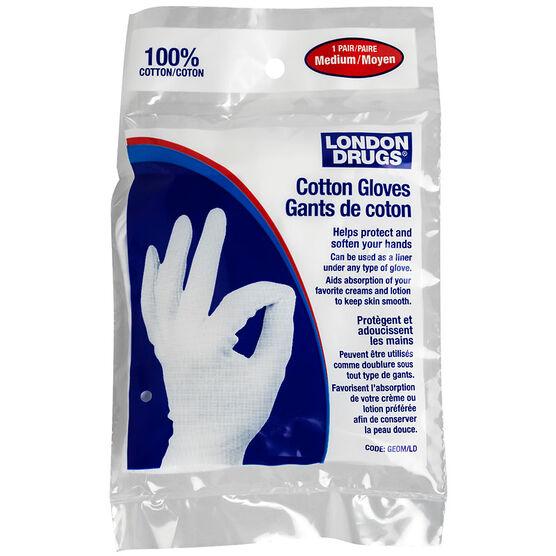 London Drugs Cotton Gloves - Medium